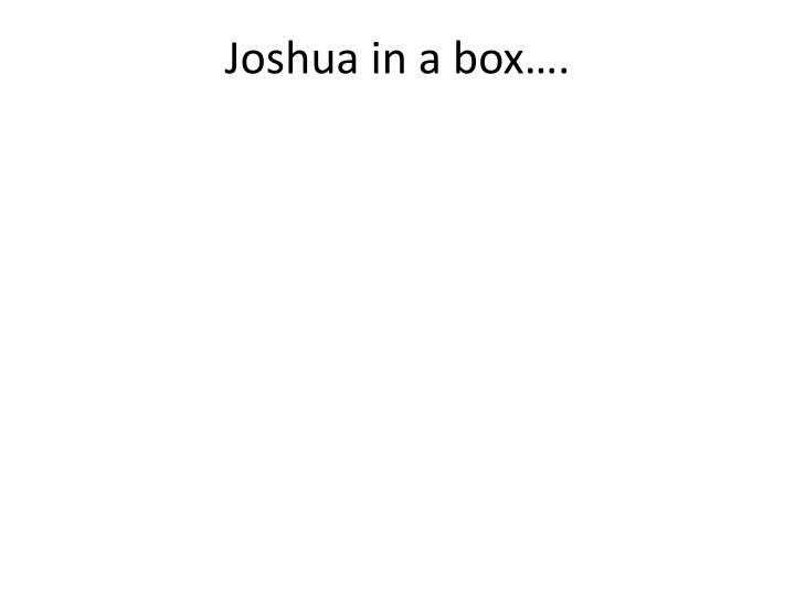 Joshua in a box….