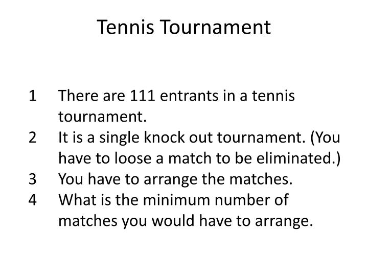 Tennis Tournament