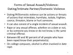forms of sexual assault violence dating intimate partner domestic violence