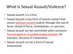 what is sexual assault violence