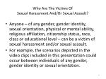 who are the victims of sexual harassment and or sexual assault