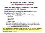strategies for thread testing data represented systems