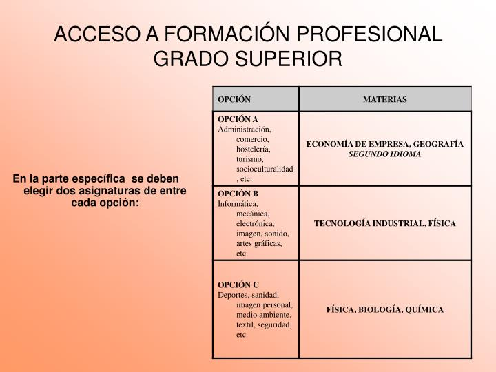 Acceso a formaci n profesional grado superior1