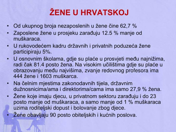 ŽENE U HRVATSKOJ
