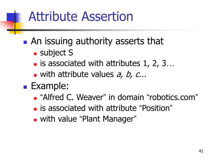 Attribute Assertion