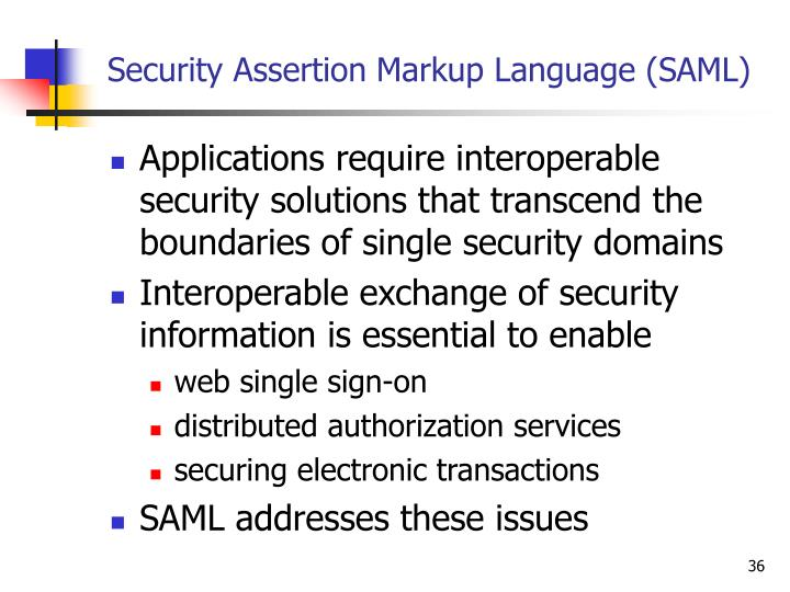 Security Assertion Markup Language (SAML)
