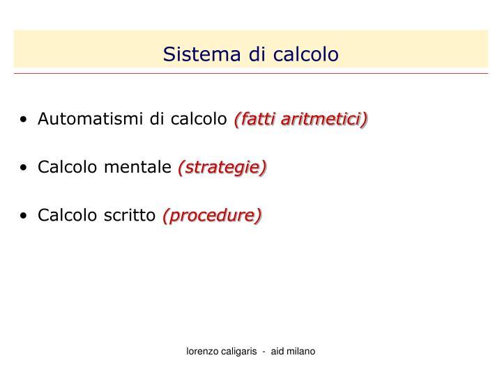Sistema di calcolo