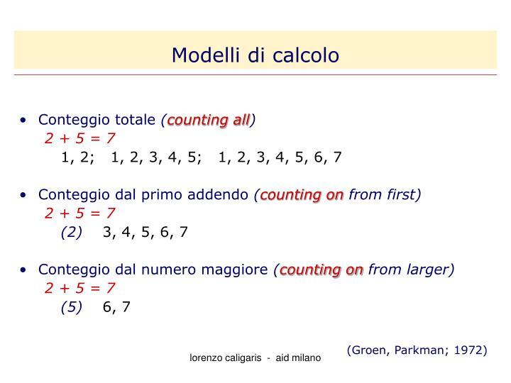 Modelli di calcolo