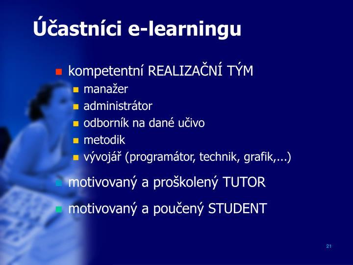 Účastníci e-learningu