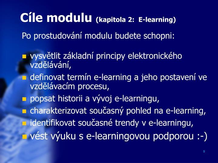 Cíle modulu