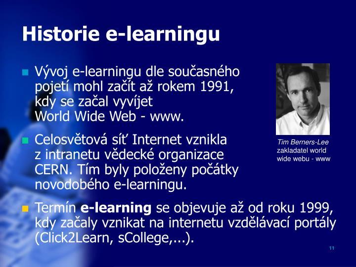 Historie e-learningu
