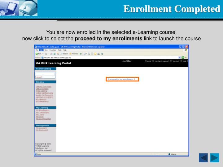 Enrollment Completed