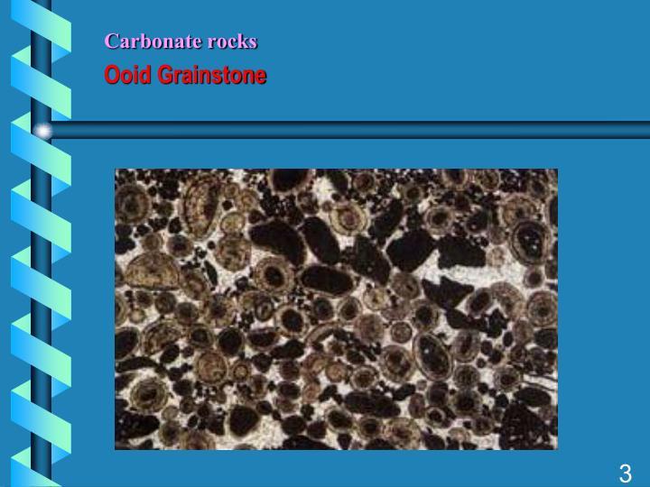 Carbonate rocks ooid grainstone
