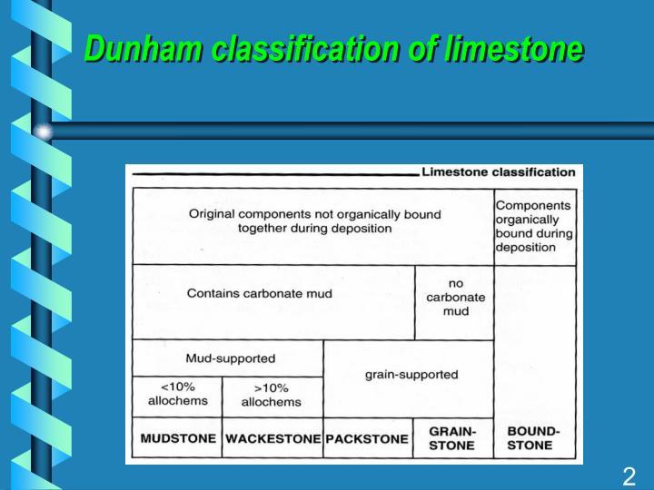 Dunham classification of limestone