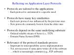 reflecting on application layer protocols