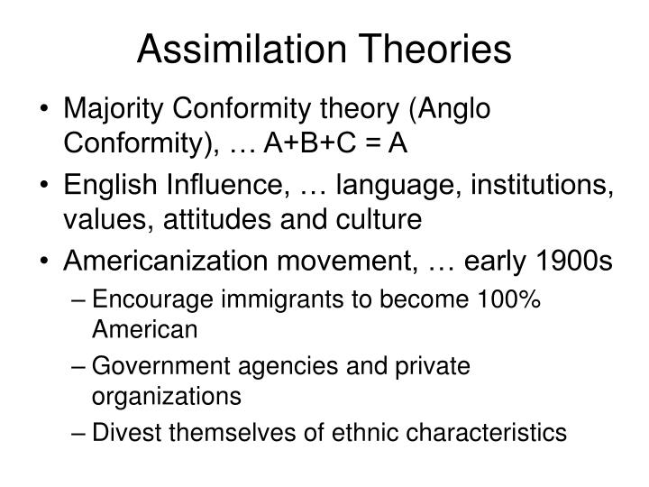 anglo conformity theory
