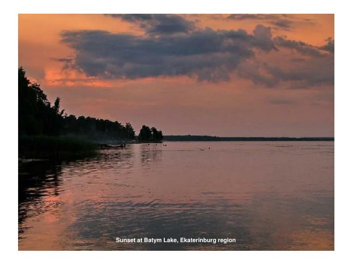 Sunset at Batym Lake, Ekaterinburg region
