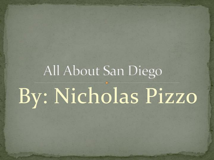 all about san diego n.