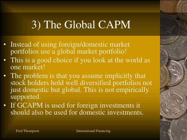 3) The Global CAPM