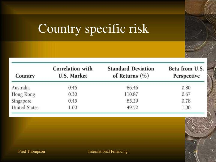 Country specific risk