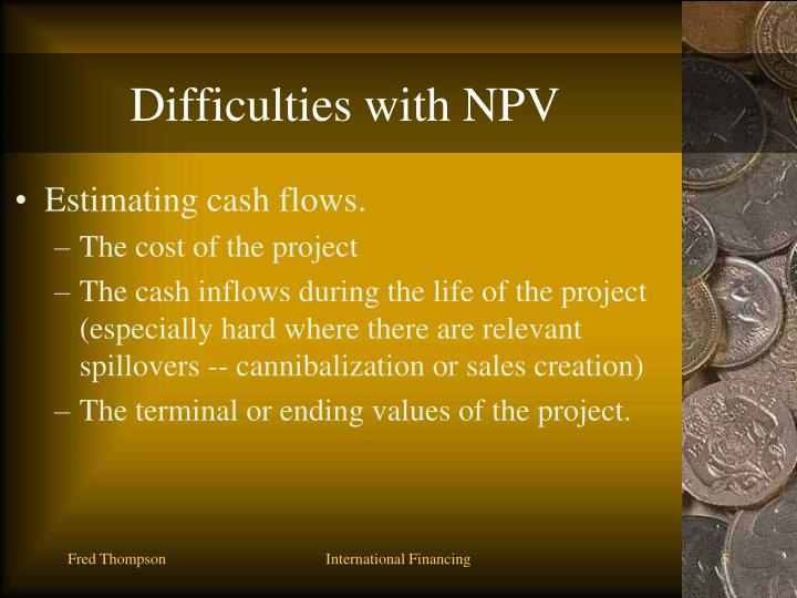 Difficulties with NPV