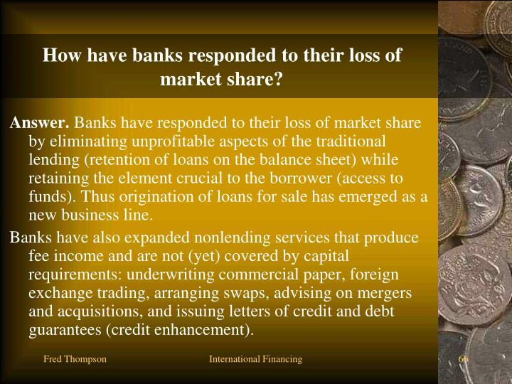 How have banks responded to their loss of market share?