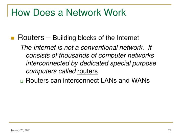 How Does a Network Work