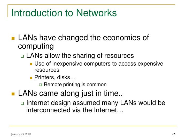 Introduction to Networks