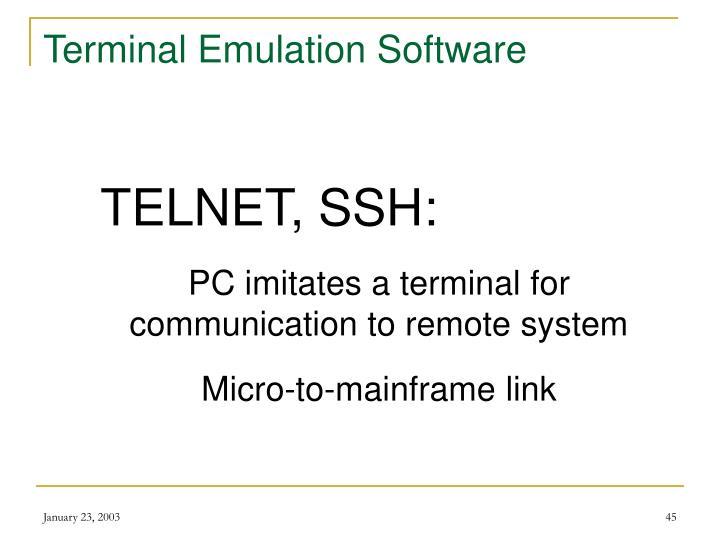 Terminal Emulation Software