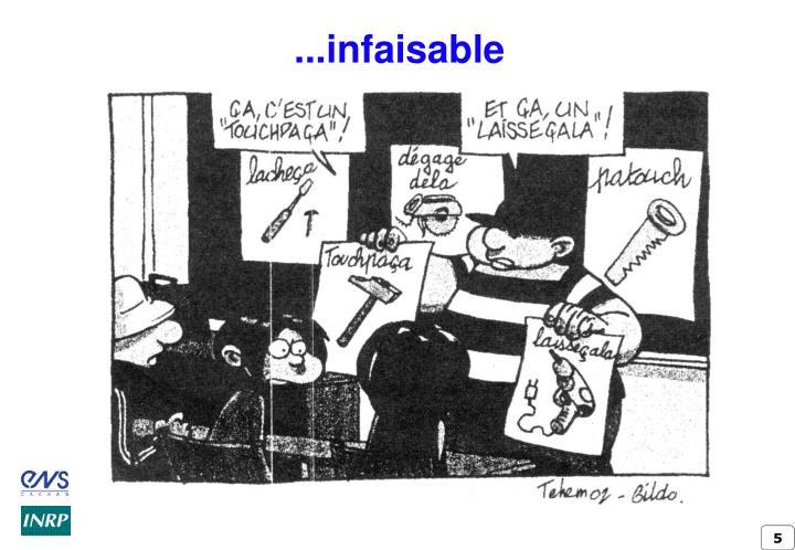 ...infaisable