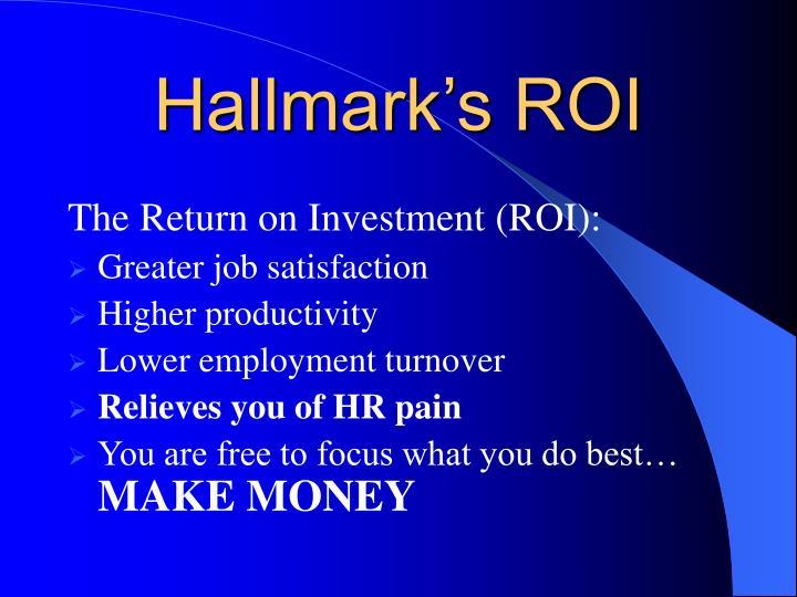 Hallmark's ROI
