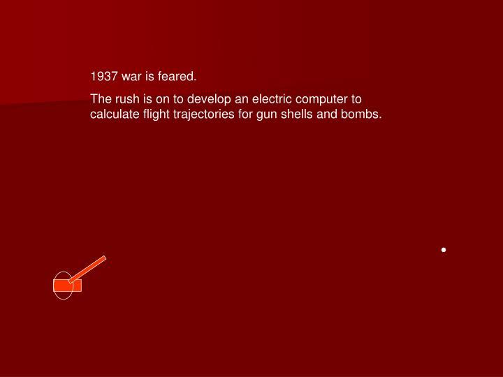 1937 war is feared.