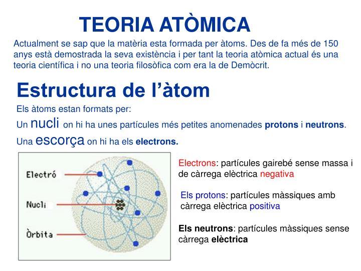 TEORIA ATÒMICA
