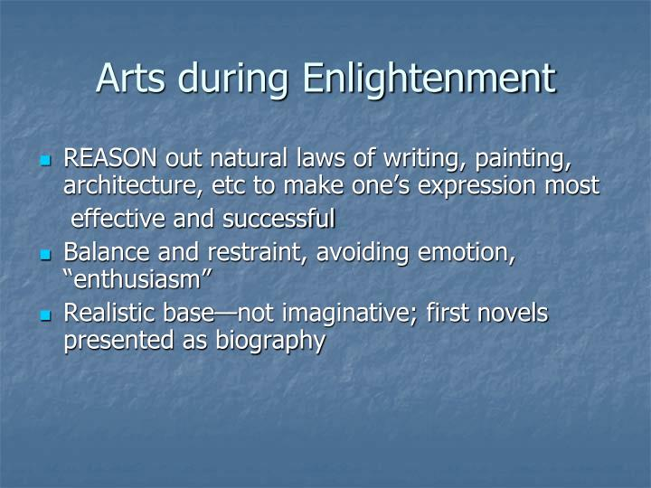 Arts during Enlightenment
