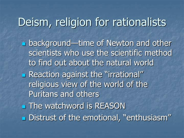 Deism, religion for rationalists