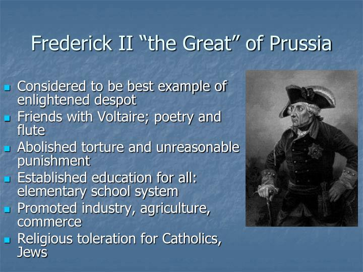 "Frederick II ""the Great"" of Prussia"