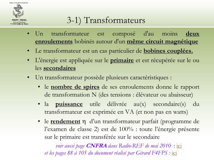 3 1 transformateurs
