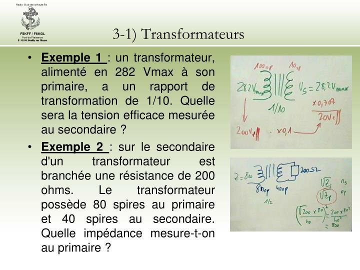3-1) Transformateurs