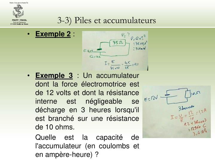 3-3) Piles et accumulateurs