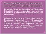 marco legal nacional e internacional de los derechos de propiedad industrial