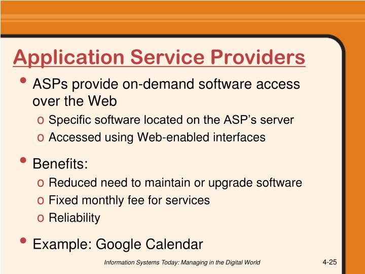 Application Service Providers