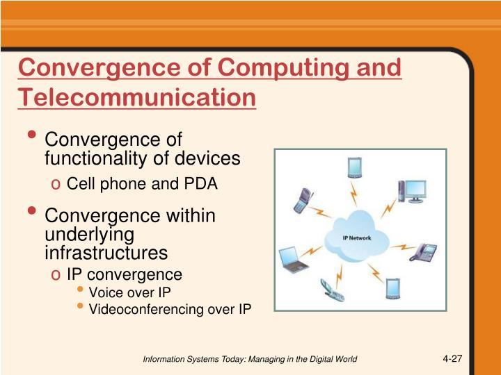 Convergence of Computing and Telecommunication