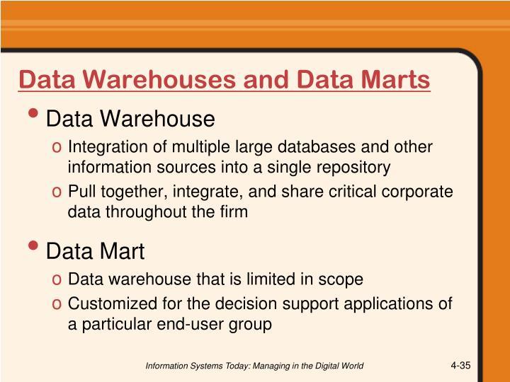 Data Warehouses and Data Marts