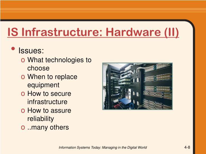 IS Infrastructure: Hardware (II)