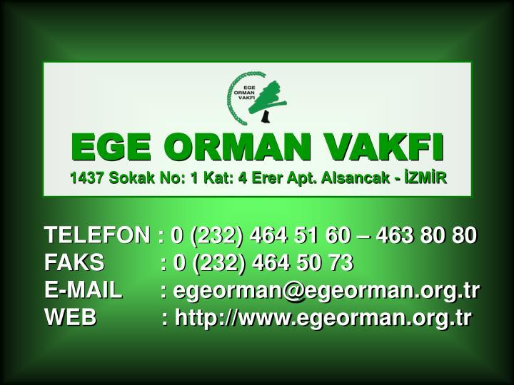 EGE ORMAN VAKFI