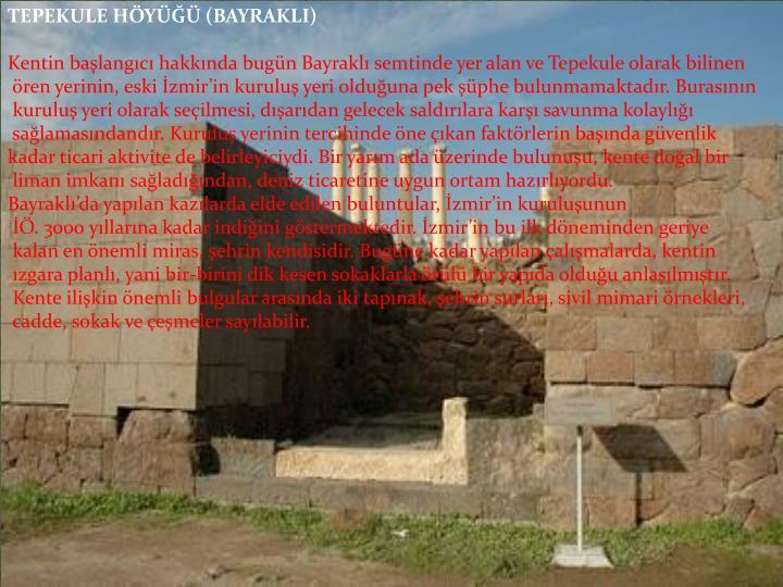 TEPEKULE HÖYÜĞÜ (BAYRAKLI)