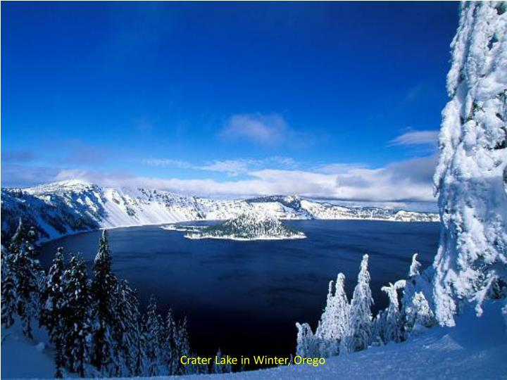 Crater Lake in Winter,