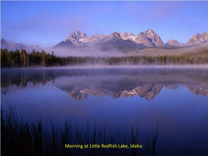 Morning at Little Redfish Lake, Idaho