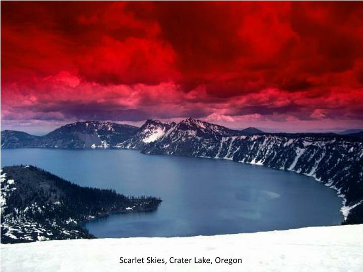 Scarlet Skies, Crater Lake, Oregon