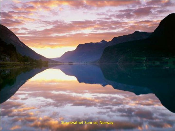 Strynsvatnet Sunrise, Norway